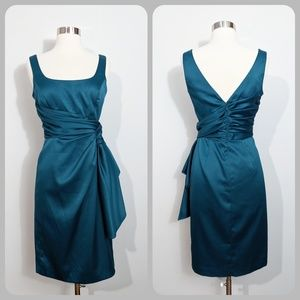 Maggy London Teal Gathered Dress